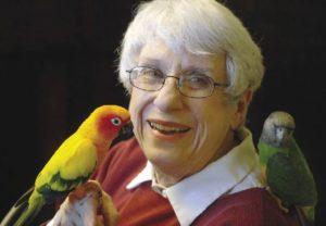 Birds right pet for senior lady